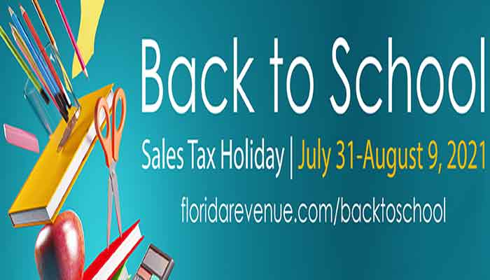 fl back to school sales tax holiday 2021