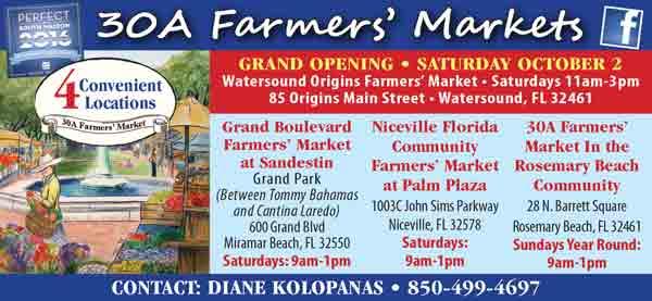 niceville florida community farmers market