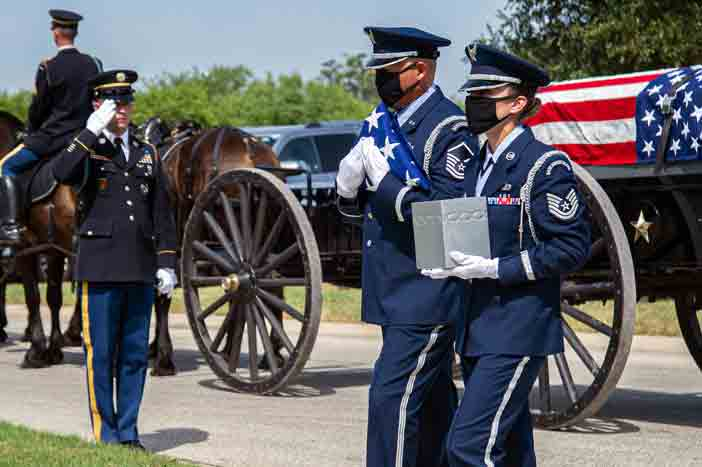 interment ceremony Col. Richard E. Cole doolittle raiders