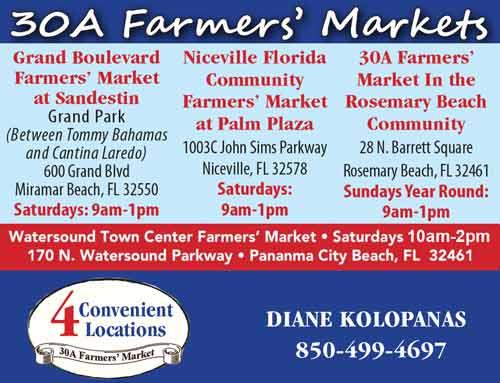 Niceville Florida Community Farmers Market at Palm Plaza, 30A Farmers markets