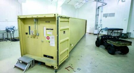 eglin air force base shipping container testing by 28th Test and Evaluation Squadron